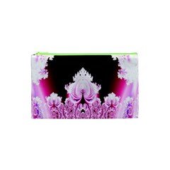 Fractal In Pink Lovely Cosmetic Bag (XS)