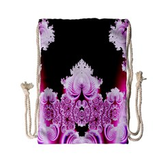 Fractal In Pink Lovely Drawstring Bag (Small)