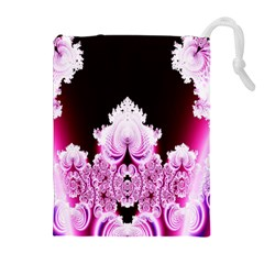 Fractal In Pink Lovely Drawstring Pouches (extra Large)