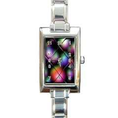 Soft Balls In Color Behind Glass Tile Rectangle Italian Charm Watch