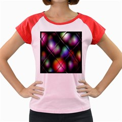 Soft Balls In Color Behind Glass Tile Women s Cap Sleeve T-Shirt