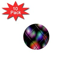 Soft Balls In Color Behind Glass Tile 1  Mini Magnet (10 Pack)