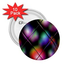 Soft Balls In Color Behind Glass Tile 2 25  Buttons (10 Pack)