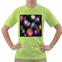 Soft Balls In Color Behind Glass Tile Green T Shirt
