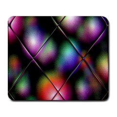 Soft Balls In Color Behind Glass Tile Large Mousepads