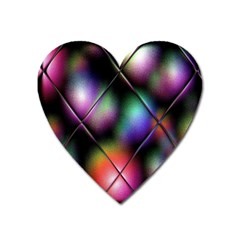 Soft Balls In Color Behind Glass Tile Heart Magnet