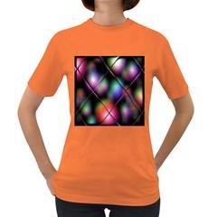 Soft Balls In Color Behind Glass Tile Women s Dark T Shirt