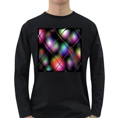 Soft Balls In Color Behind Glass Tile Long Sleeve Dark T Shirts
