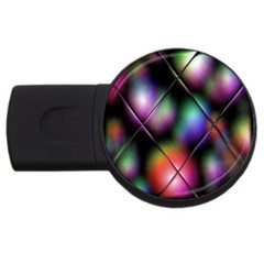Soft Balls In Color Behind Glass Tile Usb Flash Drive Round (4 Gb)