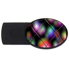 Soft Balls In Color Behind Glass Tile USB Flash Drive Oval (4 GB)