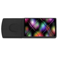 Soft Balls In Color Behind Glass Tile USB Flash Drive Rectangular (4 GB)