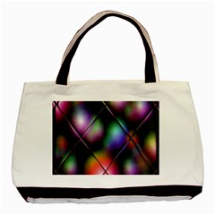 Soft Balls In Color Behind Glass Tile Basic Tote Bag (two Sides)