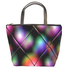 Soft Balls In Color Behind Glass Tile Bucket Bags