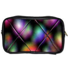 Soft Balls In Color Behind Glass Tile Toiletries Bags