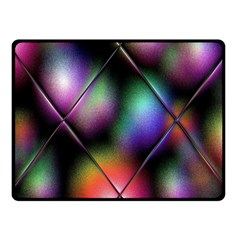 Soft Balls In Color Behind Glass Tile Fleece Blanket (small)