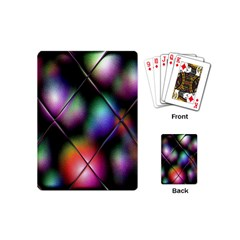Soft Balls In Color Behind Glass Tile Playing Cards (mini)