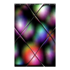 Soft Balls In Color Behind Glass Tile Shower Curtain 48  x 72  (Small)