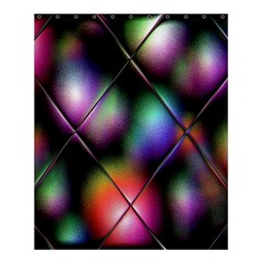 Soft Balls In Color Behind Glass Tile Shower Curtain 60  X 72  (medium)