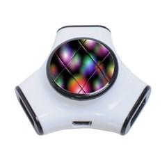 Soft Balls In Color Behind Glass Tile 3 Port Usb Hub