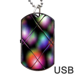 Soft Balls In Color Behind Glass Tile Dog Tag USB Flash (Two Sides)