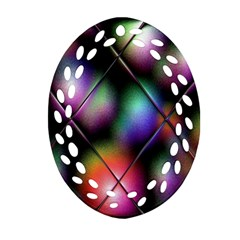 Soft Balls In Color Behind Glass Tile Ornament (Oval Filigree)
