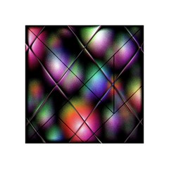 Soft Balls In Color Behind Glass Tile Acrylic Tangram Puzzle (4  x 4 )