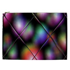 Soft Balls In Color Behind Glass Tile Cosmetic Bag (XXL)