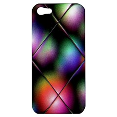 Soft Balls In Color Behind Glass Tile Apple Iphone 5 Hardshell Case