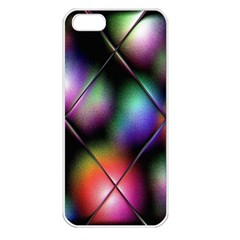 Soft Balls In Color Behind Glass Tile Apple Iphone 5 Seamless Case (white)