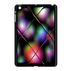 Soft Balls In Color Behind Glass Tile Apple iPad Mini Case (Black)