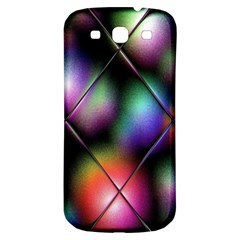 Soft Balls In Color Behind Glass Tile Samsung Galaxy S3 S III Classic Hardshell Back Case