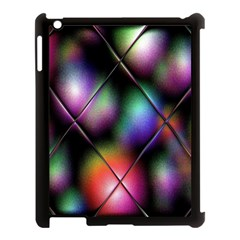Soft Balls In Color Behind Glass Tile Apple iPad 3/4 Case (Black)