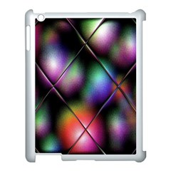 Soft Balls In Color Behind Glass Tile Apple iPad 3/4 Case (White)
