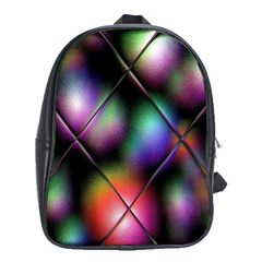 Soft Balls In Color Behind Glass Tile School Bags (XL)