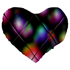 Soft Balls In Color Behind Glass Tile Large 19  Premium Heart Shape Cushions