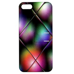 Soft Balls In Color Behind Glass Tile Apple iPhone 5 Hardshell Case with Stand