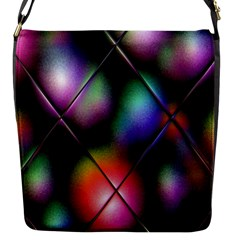 Soft Balls In Color Behind Glass Tile Flap Messenger Bag (S)
