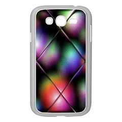 Soft Balls In Color Behind Glass Tile Samsung Galaxy Grand DUOS I9082 Case (White)