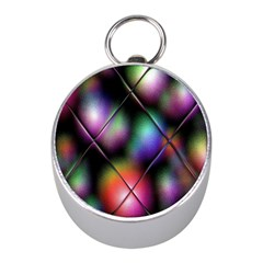 Soft Balls In Color Behind Glass Tile Mini Silver Compasses