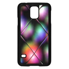 Soft Balls In Color Behind Glass Tile Samsung Galaxy S5 Case (black)