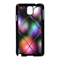 Soft Balls In Color Behind Glass Tile Samsung Galaxy Note 3 Neo Hardshell Case (Black)
