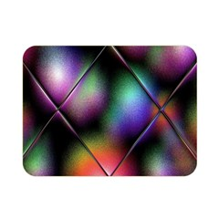 Soft Balls In Color Behind Glass Tile Double Sided Flano Blanket (mini)