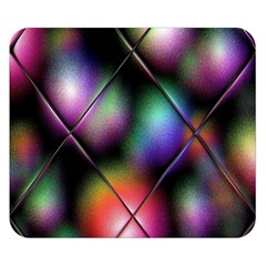 Soft Balls In Color Behind Glass Tile Double Sided Flano Blanket (Small)