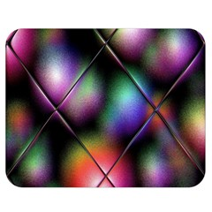 Soft Balls In Color Behind Glass Tile Double Sided Flano Blanket (Medium)
