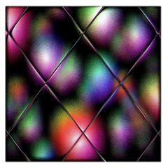 Soft Balls In Color Behind Glass Tile Large Satin Scarf (Square)