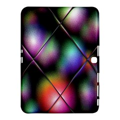 Soft Balls In Color Behind Glass Tile Samsung Galaxy Tab 4 (10.1 ) Hardshell Case