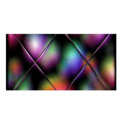 Soft Balls In Color Behind Glass Tile Satin Shawl