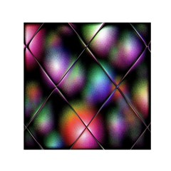 Soft Balls In Color Behind Glass Tile Small Satin Scarf (Square)