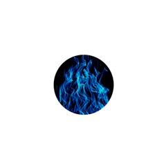 Digitally Created Blue Flames Of Fire 1  Mini Magnets