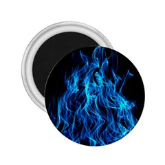 Digitally Created Blue Flames Of Fire 2.25  Magnets